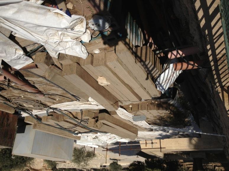 Fig 4. The refurbished beams that were produced from the ancient Al-Aqsa beams. (photo: Zachi Dvira)