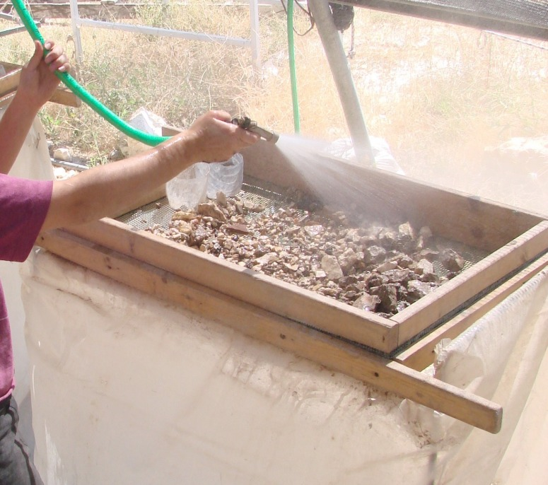 Fig 2: Wet Sifting at the Temple Mount Sifting Project