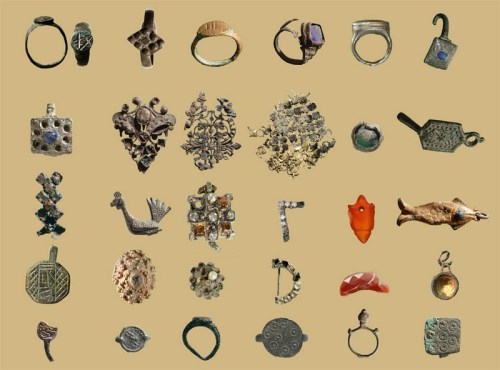 An assortment of jewelry from various periods.