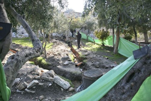 Channels for new sewage pipes in the Northern part of the Temple Mount