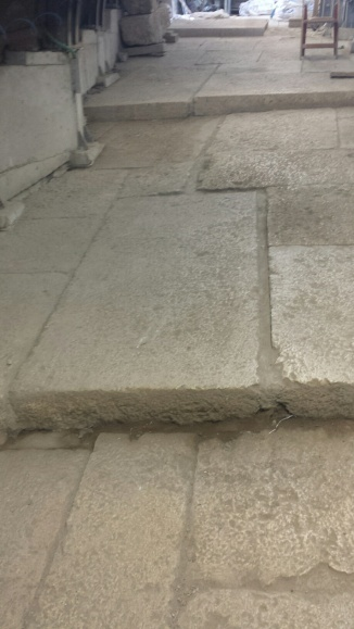 Perfect Roman paving stones in Yovel